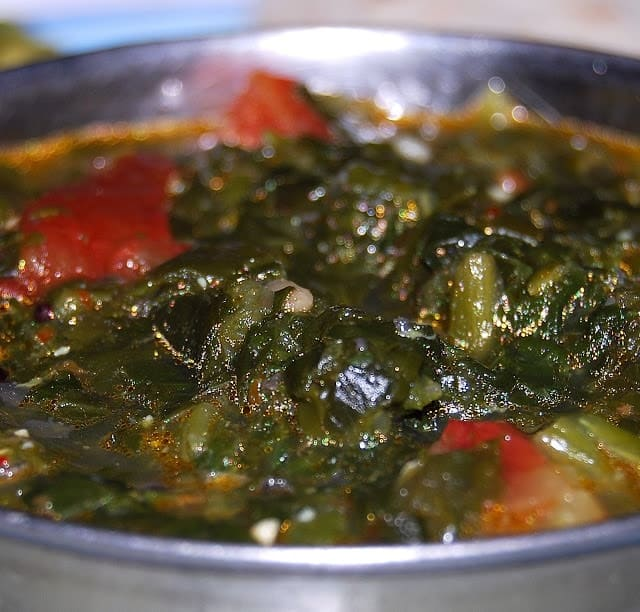 Spinach Kootu, vegan