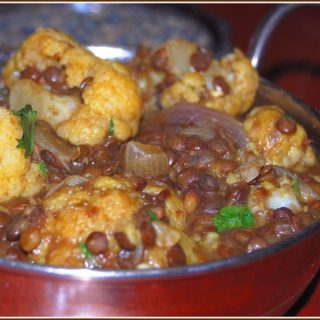 Ginger-Infused Cauliflower Dal with French Lentils