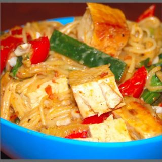 Thai-Style Noodles In Coconut Sauce