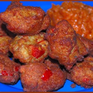 Vegan Soul Kitchen: Black-Eyed Pea Fritters and Roasted Sweet Potatoes with Coconut Milk