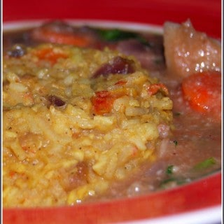 Daalonka Pulao aur Subzi Ka Meetha Stew (Lentil Pilaf and Sweet Vegetable Stew)