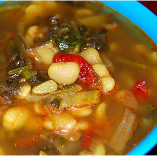 Lima Bean Stew With Swiss Chard