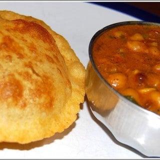 Chole Bhatura or Chana Bhatura
