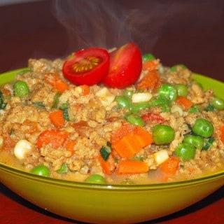 Spicy Vegan 'Kheema' (Mince)