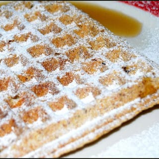 Vegan Wholegrain Waffles with Wheat Germ