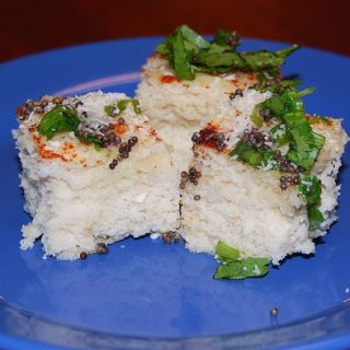 Vegan Brown Rice Dhokla