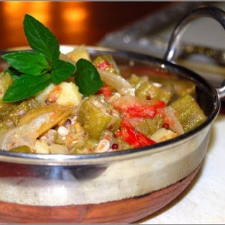 Okra With Onions and Potatoes