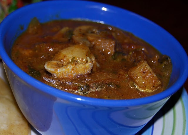 Mutton Curry, meatless