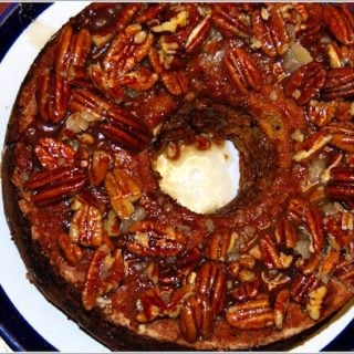 Apple Cake With Caramel-Pecan Glaze