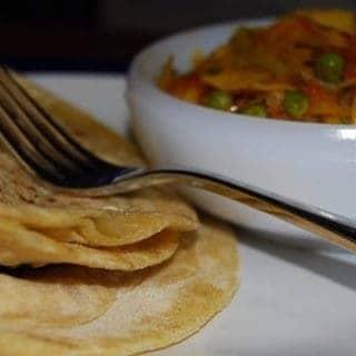 Sweet Potato Paratha with Dill Cabbage Subzi