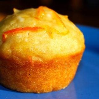 Coconut Muffins with an Orange Glaze