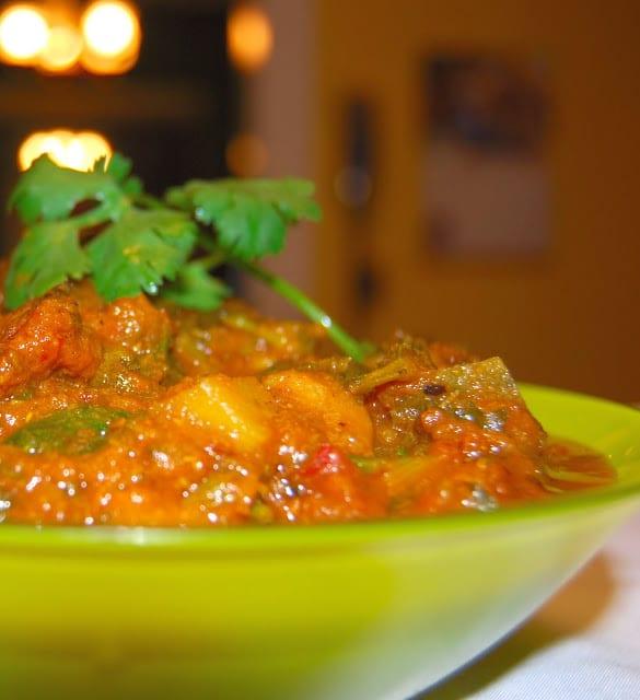 Railway Mushroom Curry - holycowvegan.net