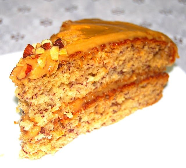 Vegan Banana Cake with Peanut Butter Frosting