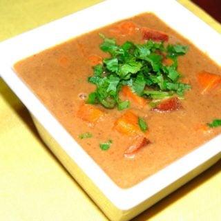 Sweet Potato Humman With Papada Kismoor: Fat-Free Cooking