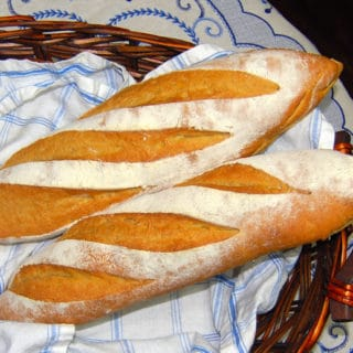 Whole-Wheat Sourdough Baguettes