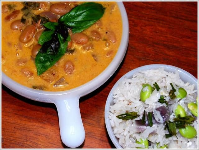 Thai Coconut Rice and Canary Beans Curry
