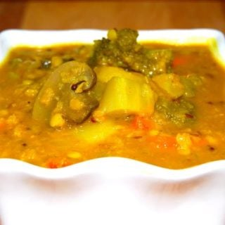 Stir-Fry Veggie Sambar for Chalks and Chopsticks