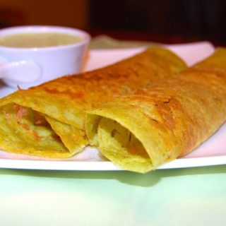 Bean and Oats Dosa