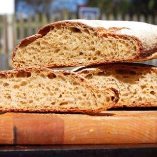 Whole-Wheat Sourdough Ciabatta