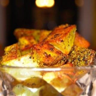 Vegan Fennel Pesto, Fennel Crusted Potatoes