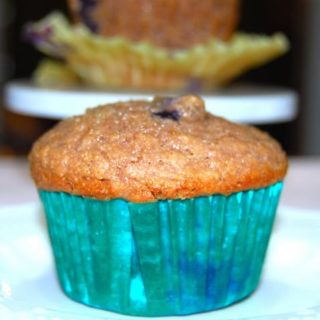 Fat Free Vegan Whole Wheat Berry Muffins