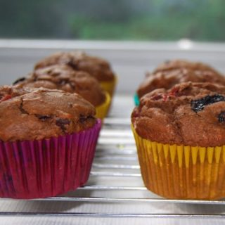 Vegan Double Chocolate Berry Muffins