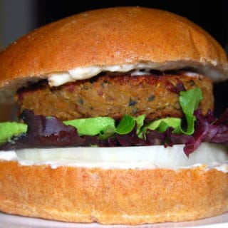 Quinoa and Bean Burger
