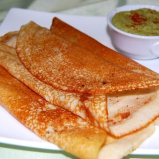 Vegan and gluten-free, these quinoa crepes are a dressed-up version of the South Indian Dosa