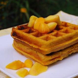 Mango Waffles, vegan and gluten-free