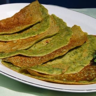 Kale Crepes, Gluten-Free