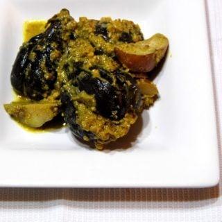 Bharli Vangi (Stuffed Eggplants)