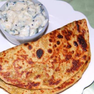 Gobi Paratha With Zucchini Raita