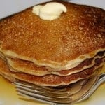 Whole wheat pancakes, vegan
