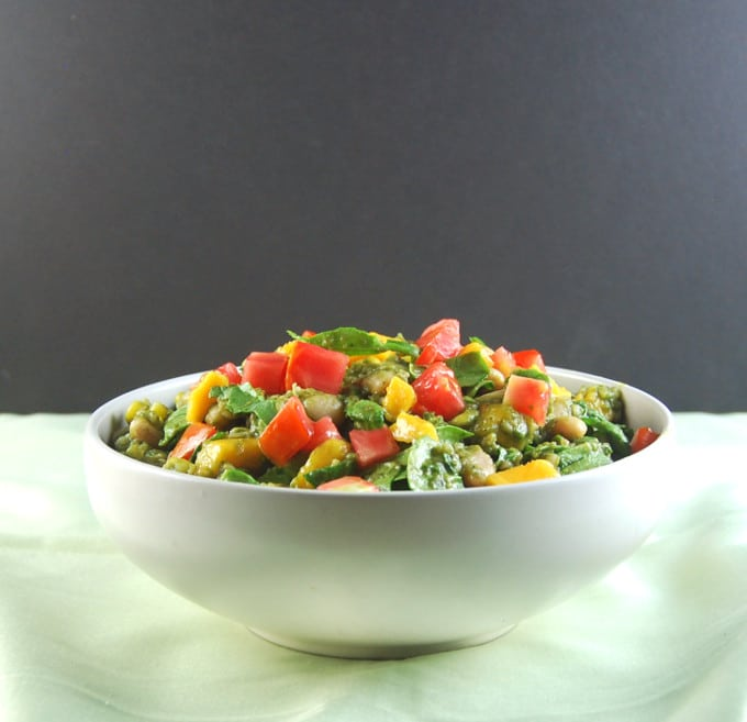 Bean Bulgur Salad