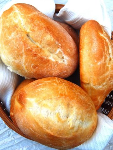 Bolillos, Mexican rolls - holycowvegan.net