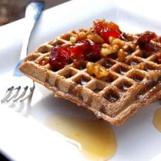 Vegan Gluten-Free Waffles with Brown Rice and Buckwheat