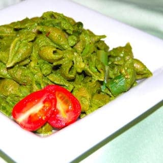 Conchiglie Pasta With Kale Pesto