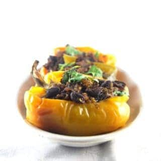 Bell Peppers Stuffed with Quinoa and Black Beans