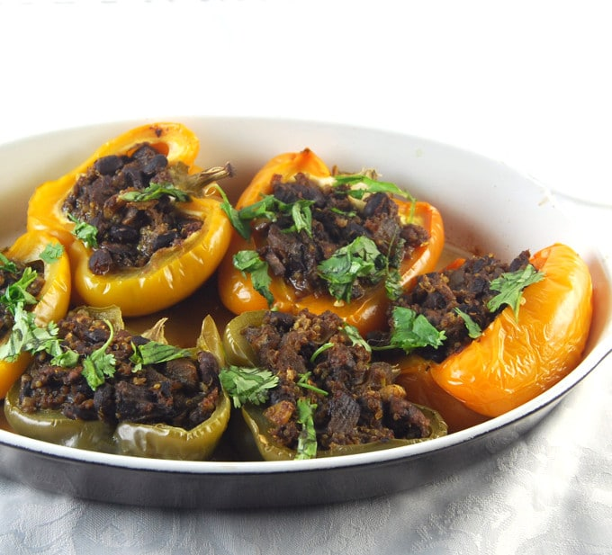 black bean stuffed bell peppers