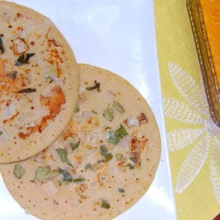 Brown Rice Uthappam With Sundried Tomato Chutney