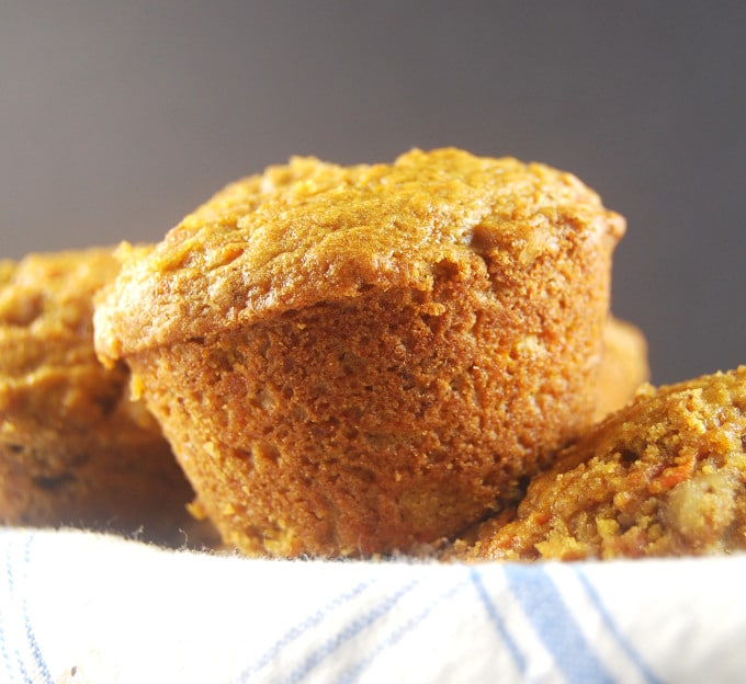 Carrot Coffee Cake Muffins. http://holycowvegan.net