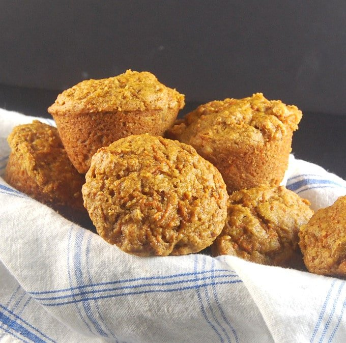 Carrot Coffee Cake Muffins. http://holycowvegan.net