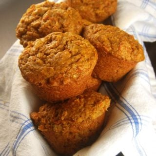 Vegan Coffee Cake Carrot Muffins