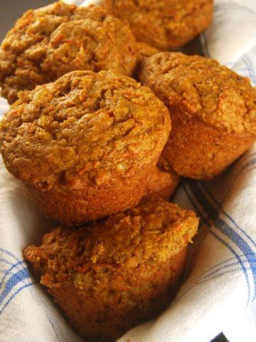 Carrot Coffee Cake Muffins. https://holycowvegan.net