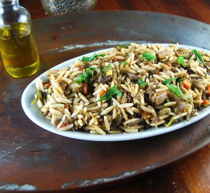 Vegan Lentil Pasta Salad