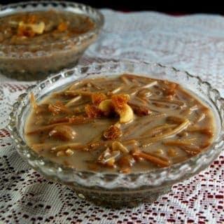 Semiya Payasam, a vermicelli pudding