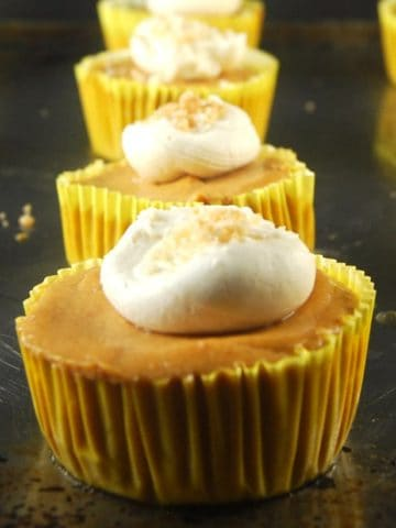 Pumpkin Cheesecake Cupcakes https://holycowvegan.net