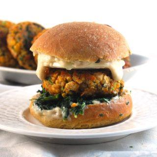 Vegan Chickpea Quinoa Burger