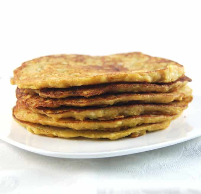 Savory Pancakes with Lentils, Brown Rice and Veggies