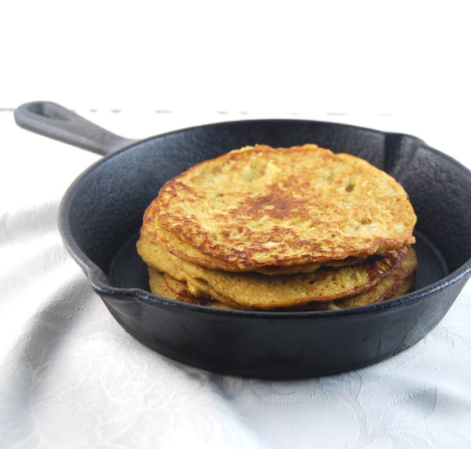 Crisp savory Pancakes with Lentils, Brown Rice and Veggies
